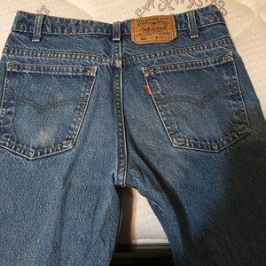 Levi's vintage 517 orange tab high waisted jeans
